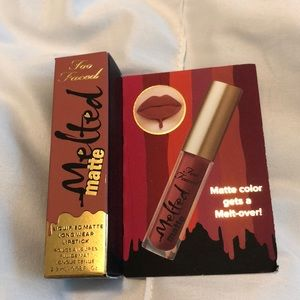5/$10 too faced melted matte lipstick in sell out